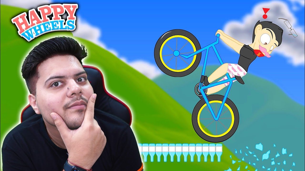 Playing Happy Wheels with 200 IQ - Funny Gameplay😂