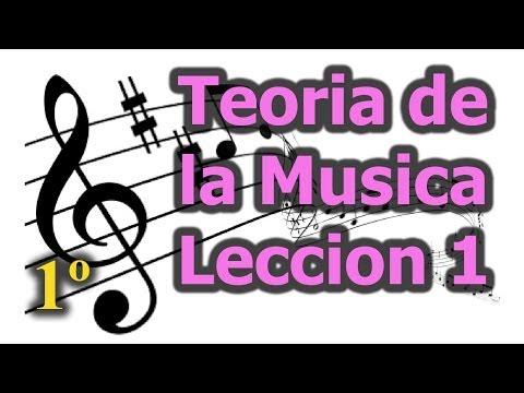 Teoria de la musica, leccion 1, Curso de teoria musical gratis