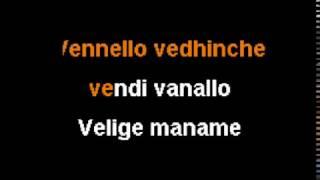 Sing Sing India, Sahasam Swasaga Saagipo~Vellipomaake (Karaoke Version)