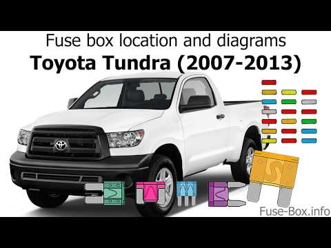 [DIAGRAM_38EU]  Fuse box location and diagrams: Toyota Tundra (2007-2013) - YouTube | 2007 Tundra Fuse Box Location |  | YouTube