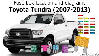 Fuse box location and diagrams: Toyota Tundra (2007-2013) - YouTubeYouTube