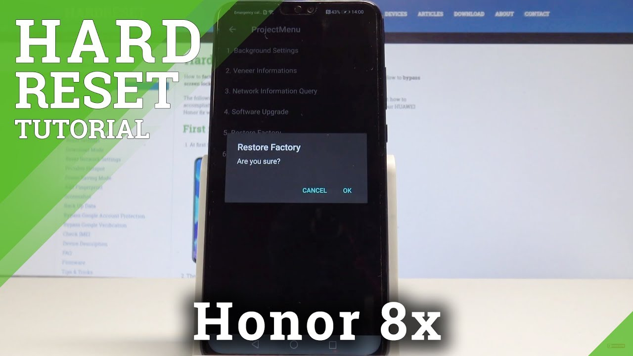 How to Factory Reset Honor 8x - Reset Code / Wipe Data / Delete Data