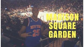 VISITA AO MADISON SQUARE GARDEN - NEW YORK KNICKS X TORONTO RAPTORS - #VLOG