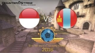 CS:GO TWC 2016 : Indonesia VS Mongolia (Asian Qualifier)