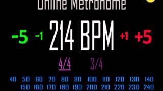 Metronomo Online - Online Metronome - 214 BPM 4/4