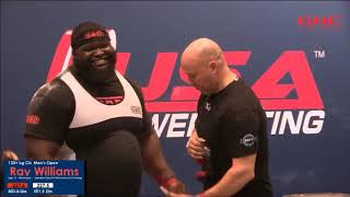 Ray Williams, All Nine Lifts, 2017 Raw Nationals
