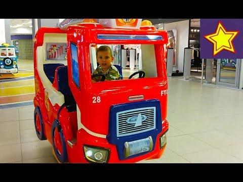 Развлечение для мальчиков. Пожарная машинка для детей. Игорюша пожарный Kids firetrack playing