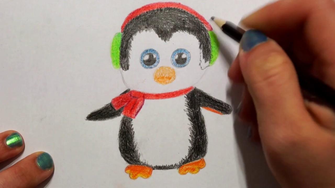 Pinguin Zeichnen Fur Kinder