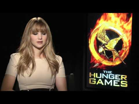 The Hunger Games interviews - Lawrence (Katniss), Hutcherson (Peeta), Hemsworth, Kravitz, Banks