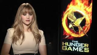 The Hunger Games interviews - Lawrence (Katniss), Hutcherson (Peeta), Hemsworth, Kravitz, Banks