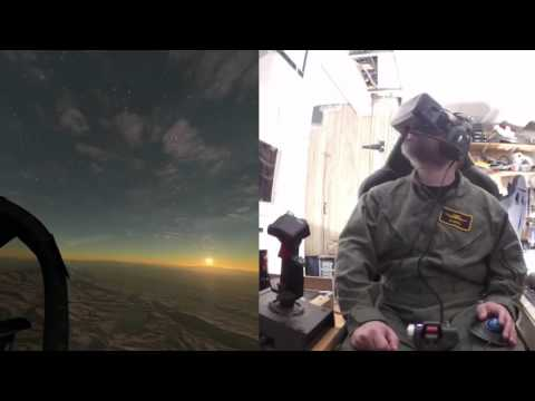 Nevada Refueling and Bomb Range with Oculus Rift Dk2