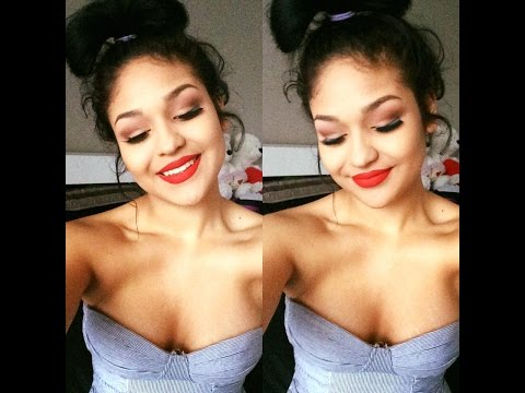 matte-red-lips-make-up-look-and-red-lipstick-concealer-trick-|-bree-alysson-torres