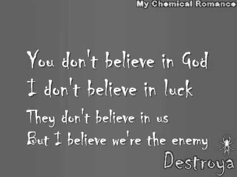 Destroya By My Chemical Romance Lyrics