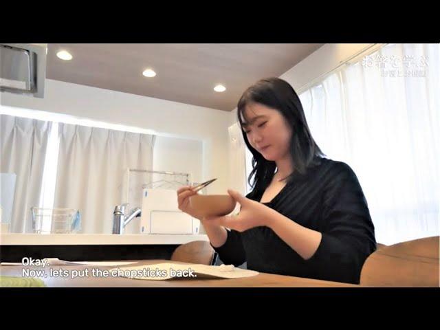 お箸を学ぶ~佐藤百優さん編(2)~ English subtitled version Learning about chopsticks~How to hold Japanese Bowls~