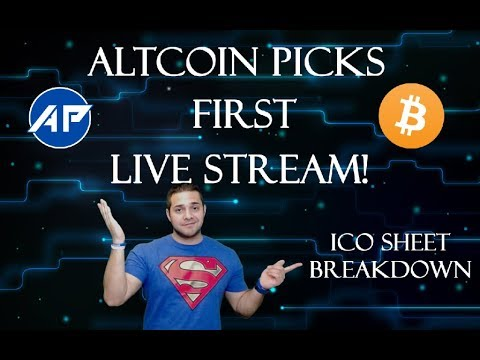 ALTCOIN PICKS FIRST LIVE STREAM | ICO SCORE SHEET | ICOS