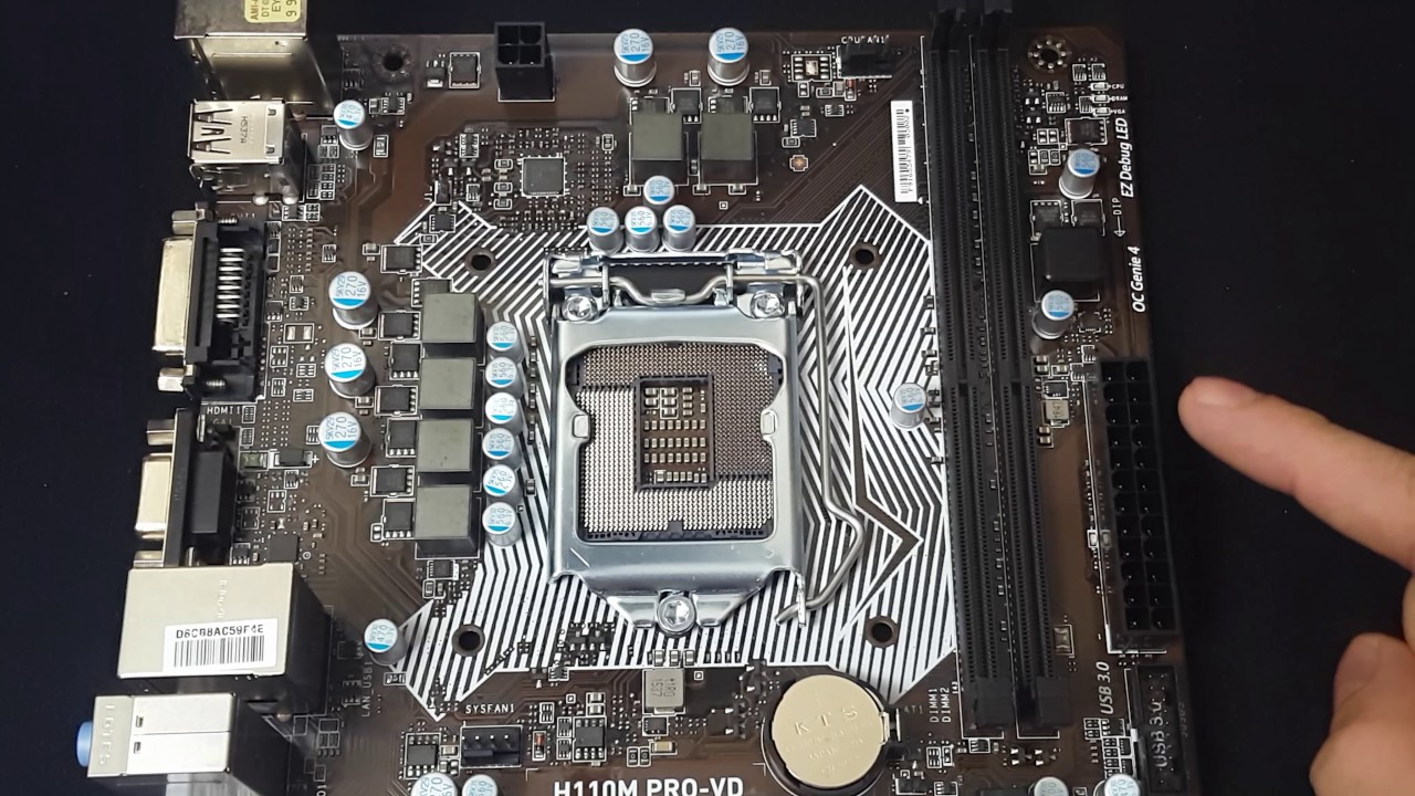Msi H110M- PRO VD Intel Motherboard Overview - YouTube