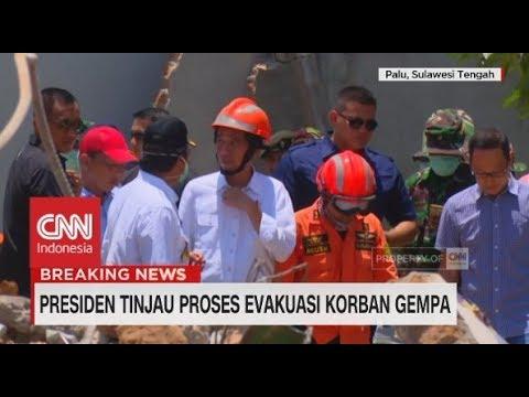 Presiden Jokowi Tinjau Proses Evakuasi Korban Gempa