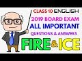 Fire and Ice - Poem 2 (Important Questions & Answer with Explanation) Class 10