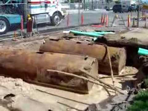 How not to remove underground fuel tanks - YouTube
