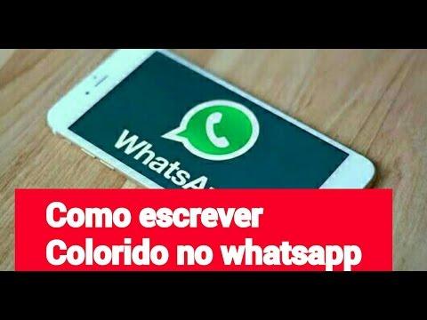 Como Escrever Colorido No Whatsapp