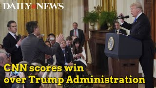 CNN wins victory is press pass battle with Trump