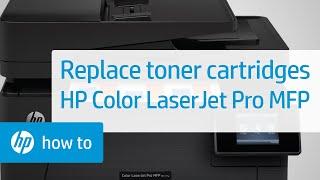 Replacing Toner Cartridges on HP Color LaserJet Pro MFP Printers   HP LaserJet   HP