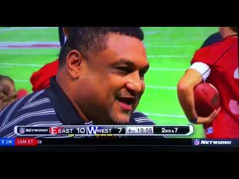 Frame Your Game owner Willie Roaf speaking to NFL Network about the East-West Shrine Game