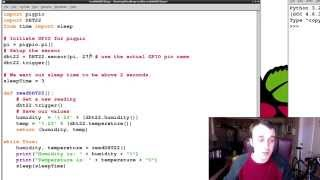 Raspberry Pi Tutorial 26 - GPIO DHT22 Digital Temperature + Humidity Sensor