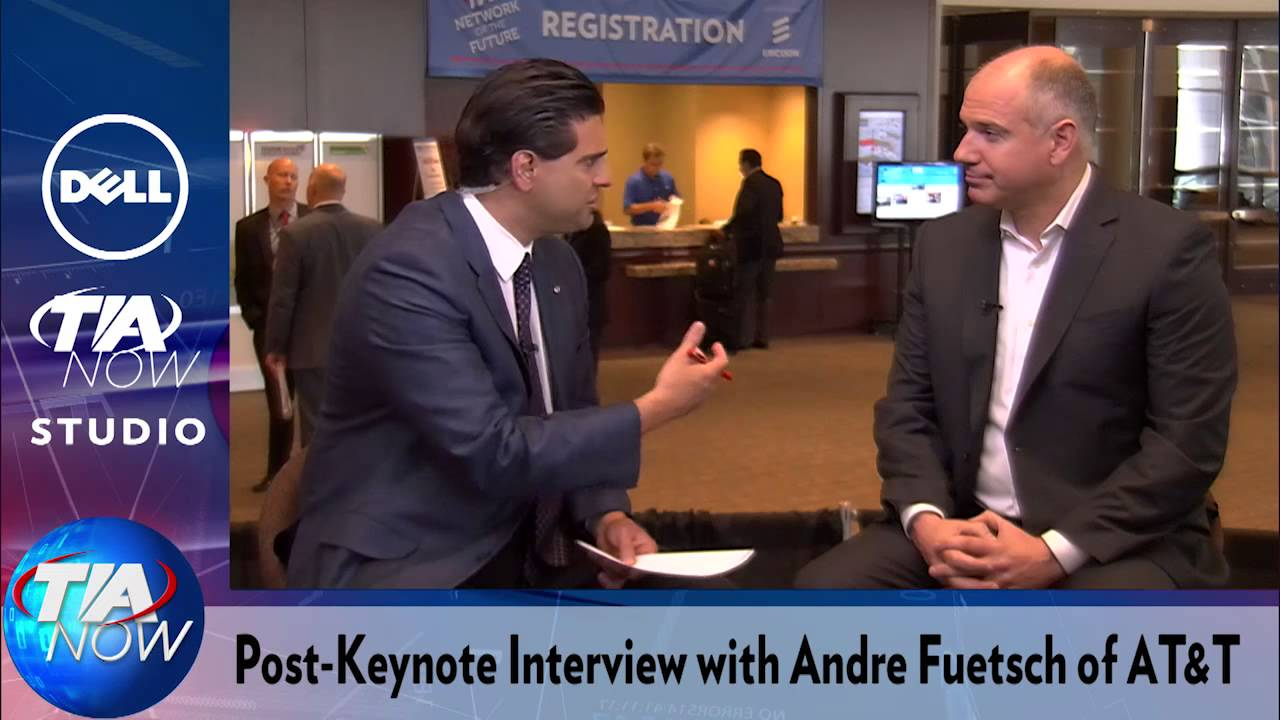 Post-Keynote Interview: Andre Fuetsch, AT&T - YouTube