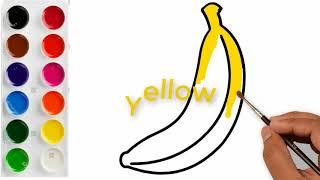 How to draw a Banana  Banana Easy Draw Tutorial