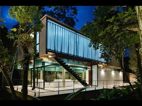 Contemporary House Design Ideas  Luxury Condo With Glass Panel And  Surrounded By Native Forest