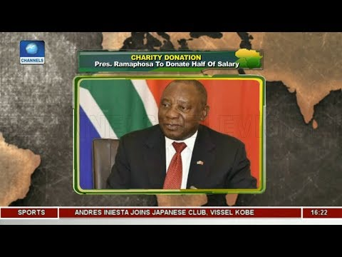 Charity Donation: Pres. Ramaphosa To Donate Half Of Salary |Network Africa|