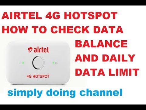 how to check 4g data balance daily limit on airtel 4g. Black Bedroom Furniture Sets. Home Design Ideas