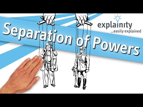 Separation of Powers easily explained (explainity® explainer video)