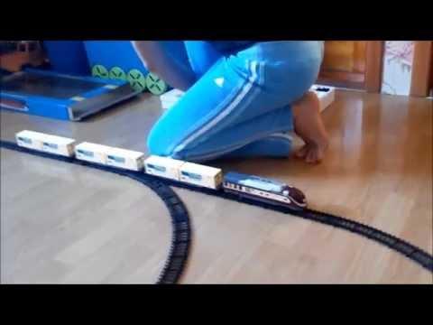 Fenfa Детский поезд распаковка.Детская железная дорога.