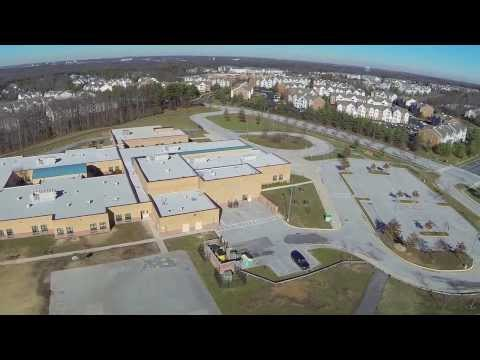 DJI PHANTOM - First video flight over Piney Orchard Elementary School Field