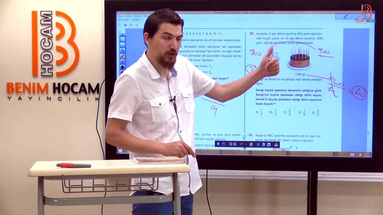 18)İlyas GÜNEŞ 2019 YKS-TYT Matematik 9. Deneme Çözümleri - II