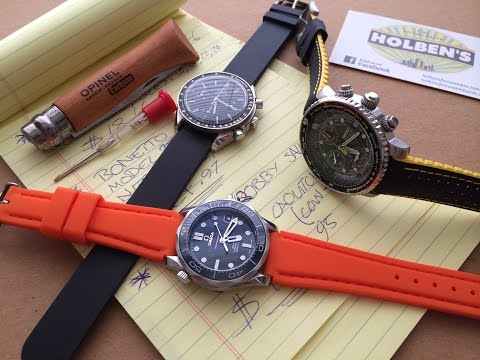 Summer 2015 NYC Watch Trends Part 1 - The Best Rubber Watch Straps Reviewed & Where To Buy Them