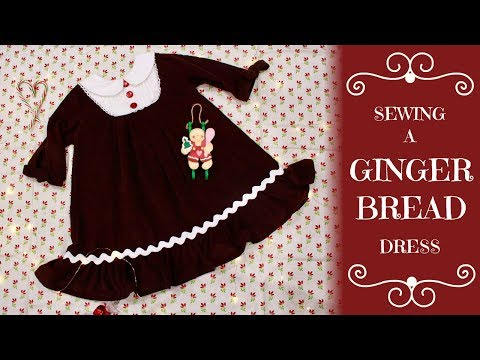 Sewing A Gingerbread Themed Dress