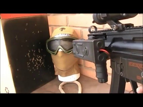 Airsoft goggles / glasses test (shooting stress test)