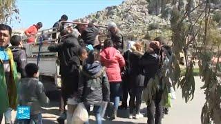 نزوح من عفرين باتجاه مناطق تسيطر عليها الحكومة السورية