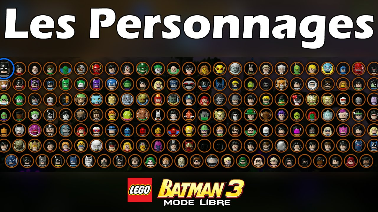 lego batman 3 les personnages characters youtube. Black Bedroom Furniture Sets. Home Design Ideas