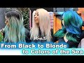 Black Hair to Platinum Blonde for Direct Dyes