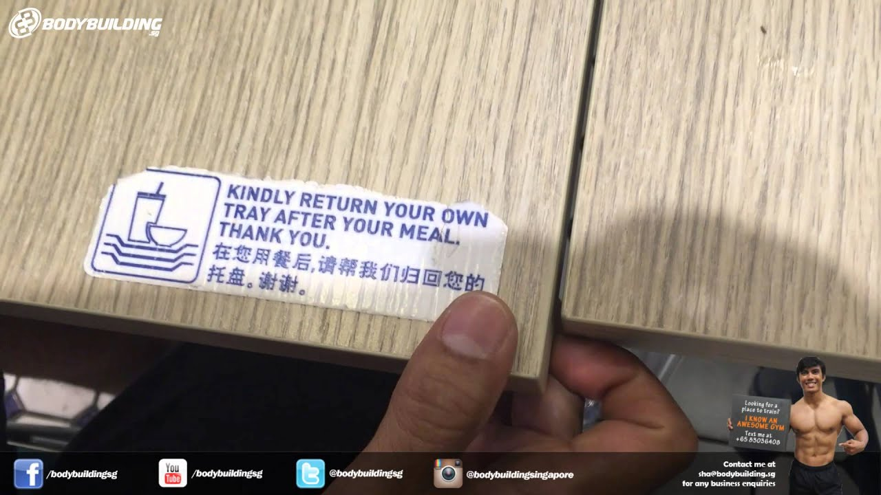 Kindly return your tray after finishing your meal - YouTube