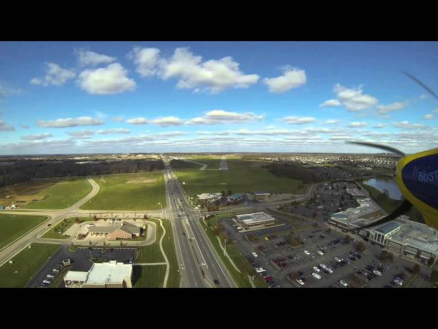 Landing Wright Brothers Airport runway 02