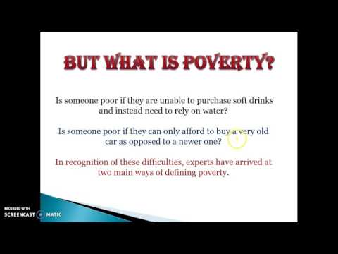 Poverty and the henderson poverty line