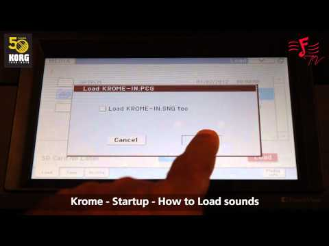 KORG Krome Demonstration - An Introduction and How to load sounds