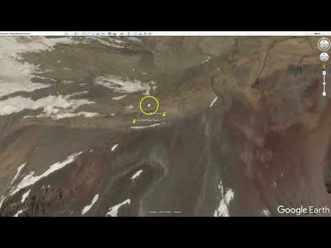 Andes Plane Crash route and location from Google Earth