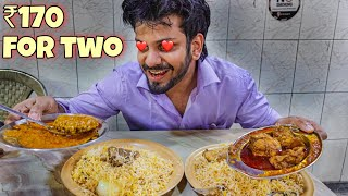 25 year old shop sells CHEAP and TASTY Biryani and মটন Tikia 😍| TheLazyBong