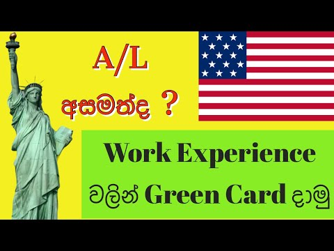 Apply Green Card with Only Working Experience  DV Lottery 2023 Work Experience වලින් Green Card දාමු